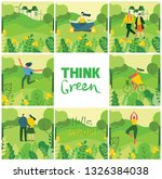 think green. vector nature eco... | Shutterstock .eps vector #1326384038