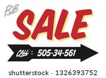 "retro style ""for sale"" sign... 