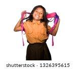 portrait of beautiful happy and ...   Shutterstock . vector #1326395615