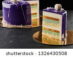 happy birthday multi layer cake.... | Shutterstock . vector #1326430508