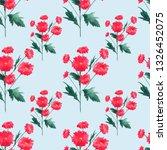 seamless watercolor pattern... | Shutterstock . vector #1326452075