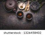 traditional asian green tea... | Shutterstock . vector #1326458402