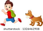 cartoon schoolboy running away... | Shutterstock .eps vector #1326462908