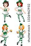 cartoon women leprechaun... | Shutterstock .eps vector #1326462932