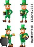 cartoon leprechaun collections... | Shutterstock .eps vector #1326462935