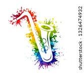 creative rainbow musical... | Shutterstock .eps vector #1326474932