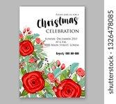 red rose wedding invitation... | Shutterstock .eps vector #1326478085