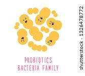 funny probiotics bacteria... | Shutterstock .eps vector #1326478772