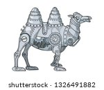 mechanical camel animal color... | Shutterstock .eps vector #1326491882