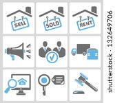 real estate business icon set | Shutterstock .eps vector #132649706