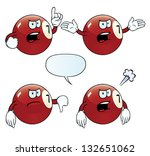 collection of angry billiard... | Shutterstock . vector #132651062