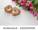 Two Heart Shaped Cake And A...