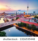 berlin  germany at sunset. red... | Shutterstock . vector #1326535448