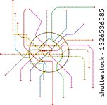 subway map of a large city ... | Shutterstock .eps vector #1326536585