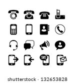 16 icons set   communication ... | Shutterstock .eps vector #132653828