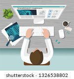 the doctor works on the... | Shutterstock .eps vector #1326538802
