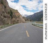snow mountain prairie highway   Shutterstock . vector #1326546218