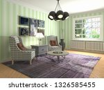 interior with chair. 3d...   Shutterstock . vector #1326585455