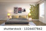 bedroom interior. 3d... | Shutterstock . vector #1326607862