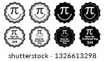 Pi Label Set Happy Pi Day...