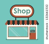 shop front. exterior horizontal ... | Shutterstock .eps vector #132661532