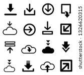 download now symbol  download... | Shutterstock .eps vector #1326620315