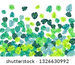 teal tropical jungle leaves... | Shutterstock .eps vector #1326630992