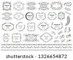 calligraphic design elements .... | Shutterstock .eps vector #1326654872