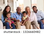 portrait of multi generation... | Shutterstock . vector #1326660482