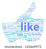 thumb up shape with social... | Shutterstock .eps vector #132669572
