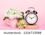 white flowers  gift box and... | Shutterstock . vector #1326715088