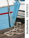 hawser on the bridge in front... | Shutterstock . vector #132672212
