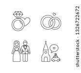 wedding icons set  engagement ...   Shutterstock .eps vector #1326722672