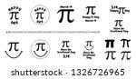 pi label set happy pi day... | Shutterstock .eps vector #1326726965