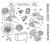 hand care set for spa salon ... | Shutterstock .eps vector #1326734048