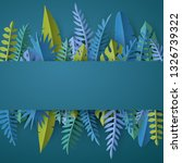 trendy summer template with... | Shutterstock .eps vector #1326739322