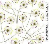 dandelion blowing plant vector... | Shutterstock .eps vector #1326756278