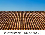 orange roof tile house against... | Shutterstock . vector #1326776522