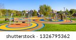 panorama of colorful large... | Shutterstock . vector #1326795362