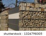 gabions. an interesting example ... | Shutterstock . vector #1326798305