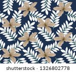 fabric texture leaves flower on ... | Shutterstock .eps vector #1326802778