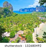 stunning view on railay bay in... | Shutterstock . vector #132680492