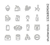 beer related icons  thin vector ... | Shutterstock .eps vector #1326809042