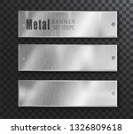 metal banners horizontal set... | Shutterstock .eps vector #1326809618