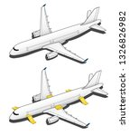 isometric plane airplane slide. ... | Shutterstock .eps vector #1326826982