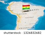 the flag of bolivia in the... | Shutterstock . vector #1326832682