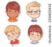set with boy's faces. userpics... | Shutterstock .eps vector #1326833618