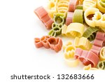 easter pasta in yellow  red and ... | Shutterstock . vector #132683666