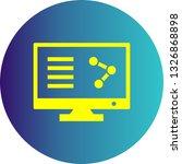 vector online share icon  | Shutterstock .eps vector #1326868898