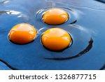 Three Fresh Raw Chicken Egg...